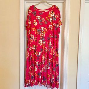 Loft Size 26 Pink Floral Dress
